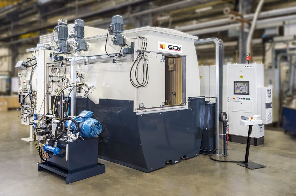low pressure carburizing and oil quenching - cémentation basse pression trempe huile | ECM Technologies